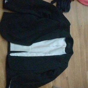 Aqua Brand Black Dress Coat
